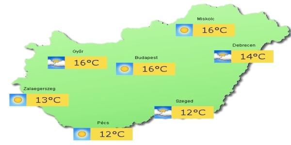 magyarország időjárás térkép Feladatok magyarország időjárás térkép