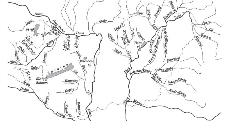 magyarország folyói térkép Természeti jellegzetességek magyarország folyói térkép