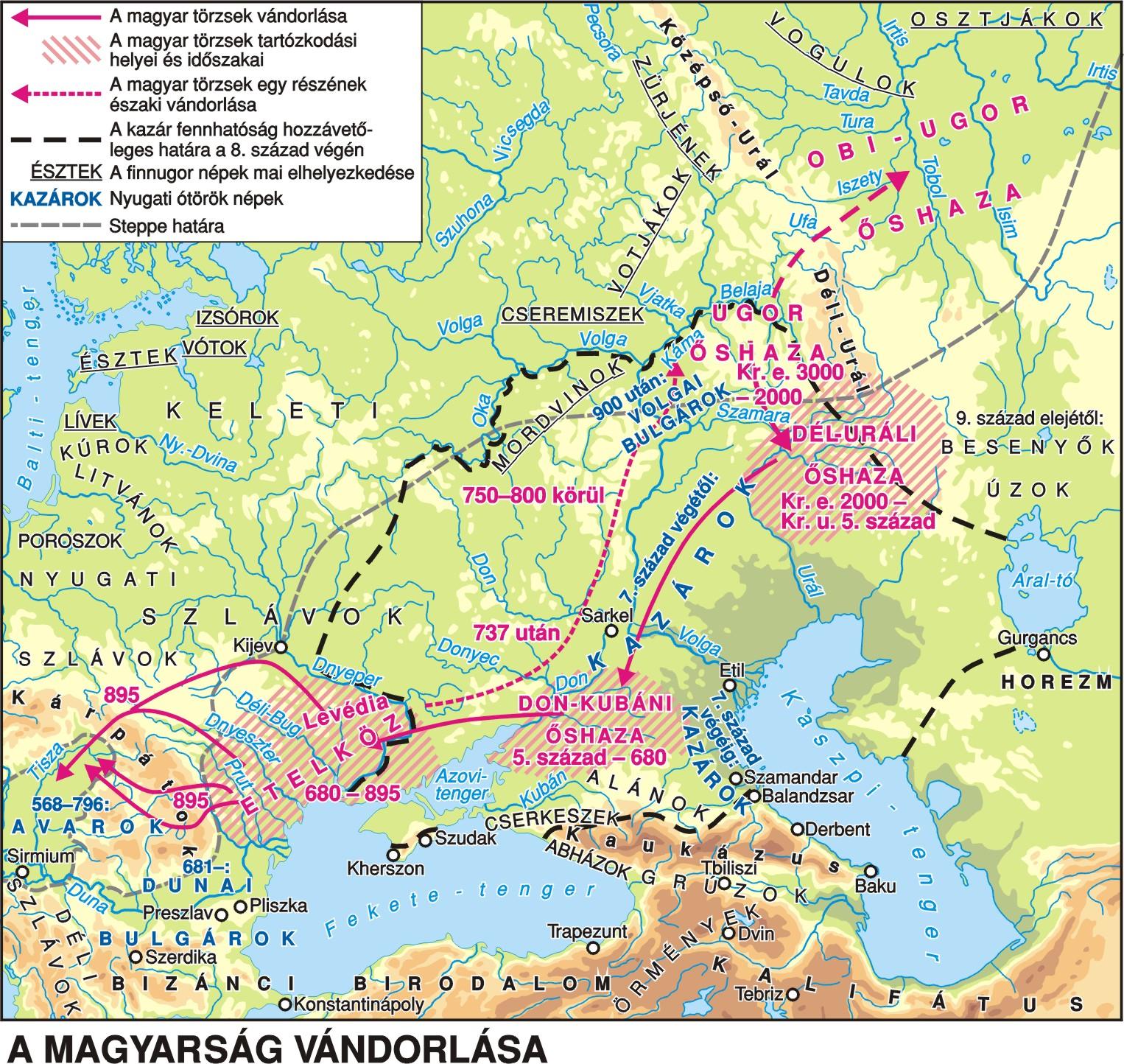 magyar őshaza térkép A magyarok őshazája