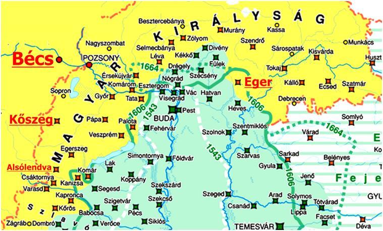 magyarország térkép kőszeg A török kiűzése Magyarországról magyarország térkép kőszeg